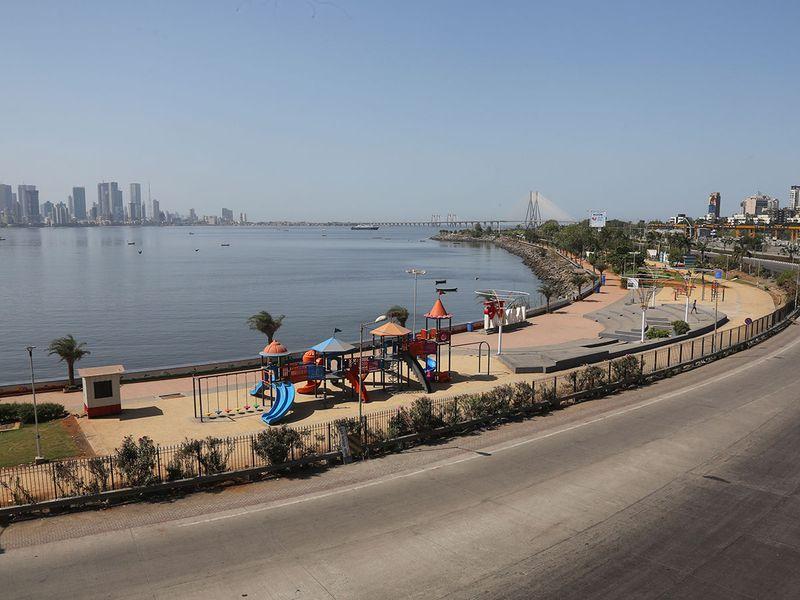 empty playground in Mumbai