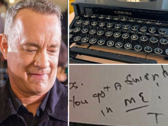 "An eight-year-old boy named ""Corona"" received a surprise from Hollywood actor Tom Hanks – a letter and a Corona brand typewriter."