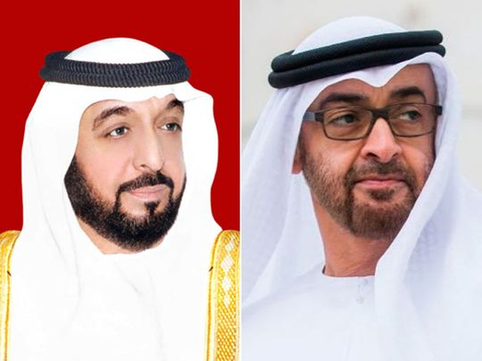 Sheikh Khalifa, Sheikh Mohamed bin Zayed