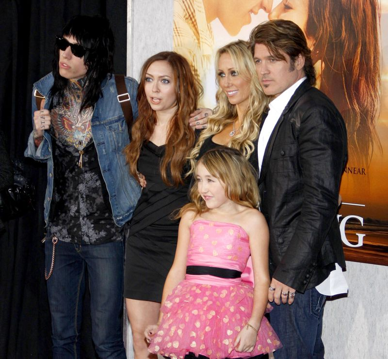 Billy Ray Cyrus and family