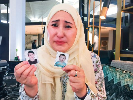 Chinara Kassymova, 37, had been agonising over the fate of daughter Mariam and son Mohammad since August 2016 when her Syrian husband allegedly bundled them away to the northern Syrian city of Aleppo, without her knowledge.