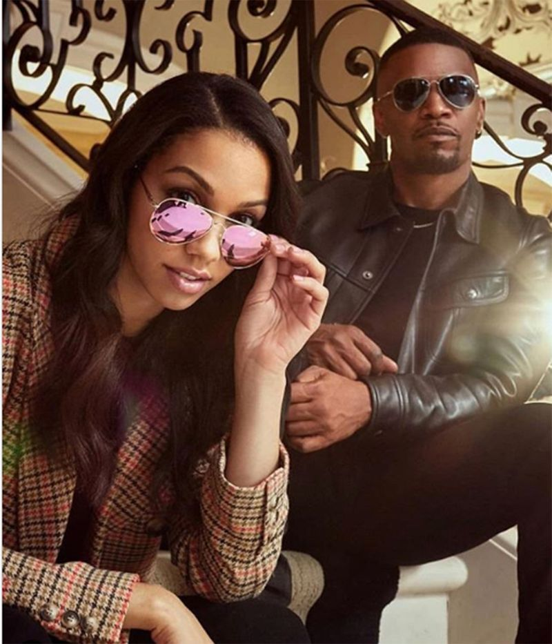 Corinne and Jamie Foxx