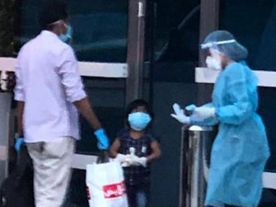 Four-year-old Sivani seen her leaving hospital after recovering from coronavirus