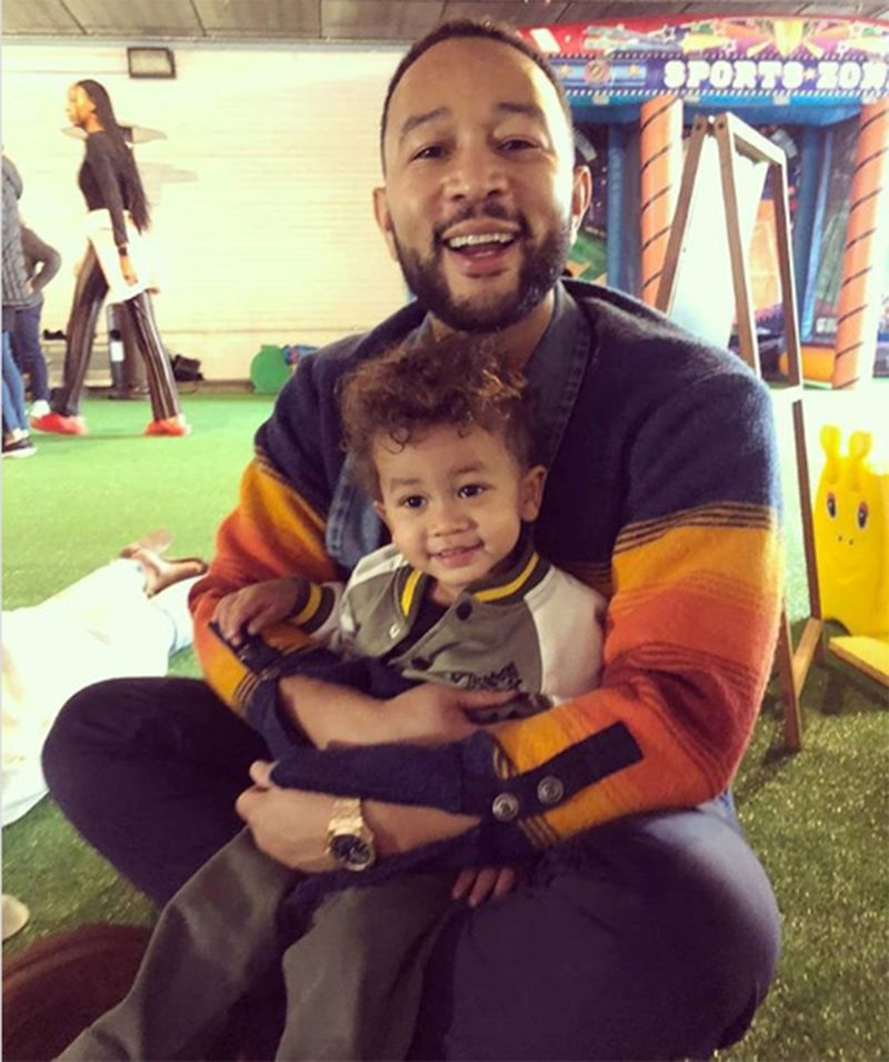 John Legend and son Miles Legend