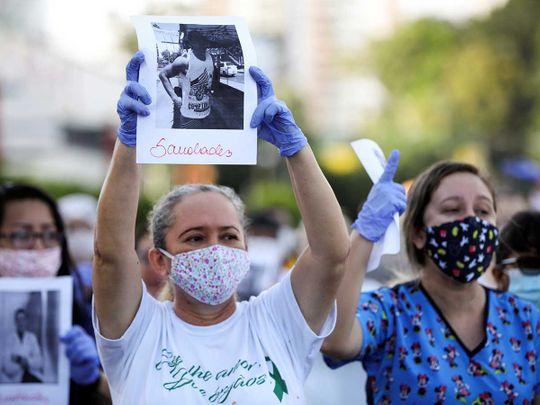 Brazil medical workers coronavirus