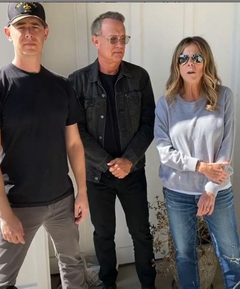 Colin Hanks with Tom Hanks and Rita Wilson