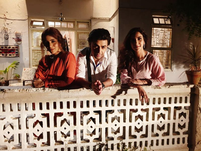 Sohai Ali Abro, Farhan Saeed and Anoushay Abbasi on the set of PREM GALLI-1587969210773