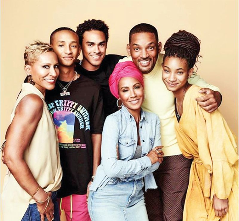 Will Smith with Trey, Willow, Jaden and Jada-Pinkett Smith