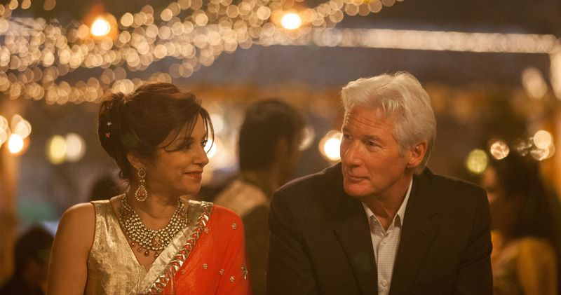 Lillete Dubey with Richard Gere in 'The Best Exoitic Marigold Hotel'
