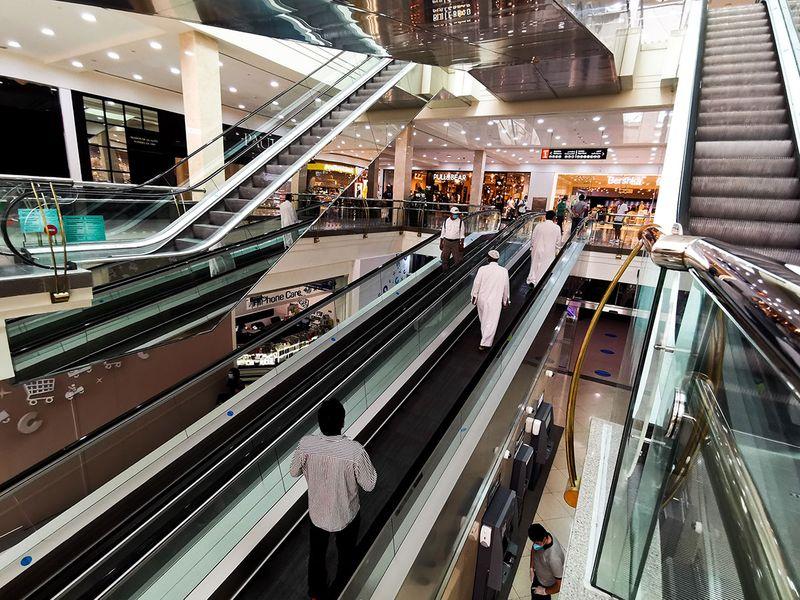 People at Deira City Centre in Dubai.
