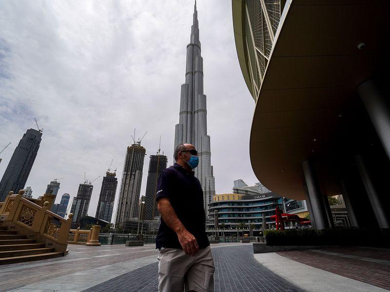 People at Dubai Mall in Dubai.