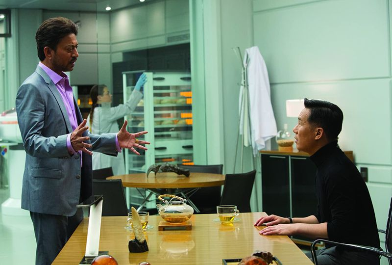 Irrfan Khan and BD Wong in 'Jurassic World'