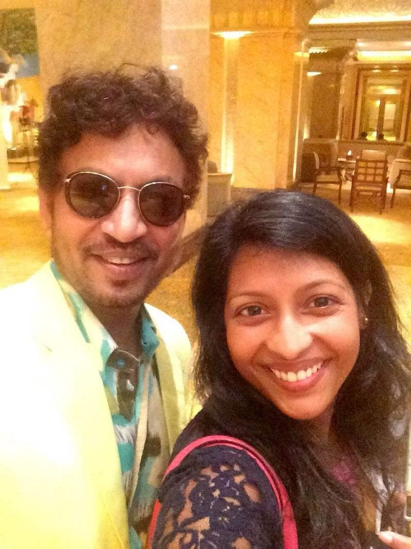 Irrfan Khan and Manjusha Radhakrishnan at Emirates Palace, Abu Dhabi
