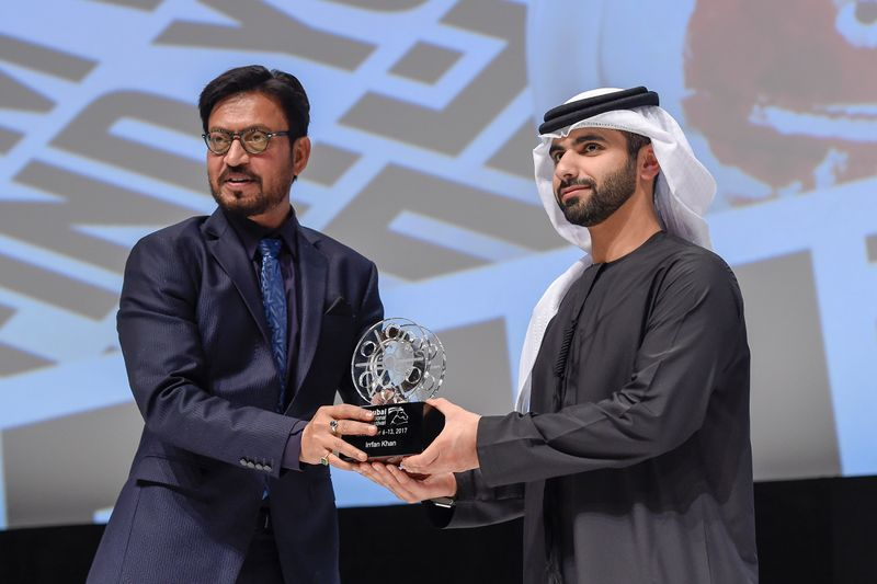 Irrfan Khan being awarded at DIFF