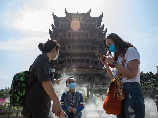People visit Yellow Crane Tower