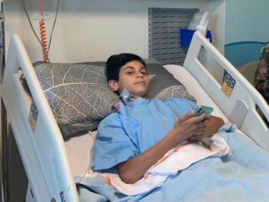 Rakan was left paralysed from the waist down in the accident