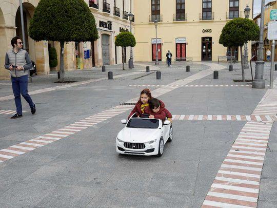 Spain coronavirus toy car children