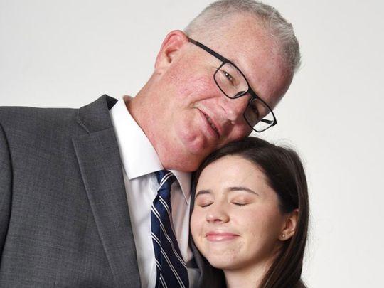 Wayne Holbrook with daughter Georgina