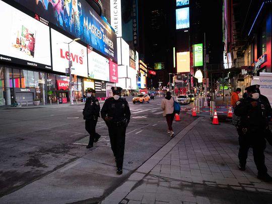 New York police patrol