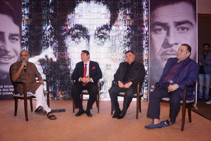 Rajiv Kapoor with brothers Rishi and Randhir
