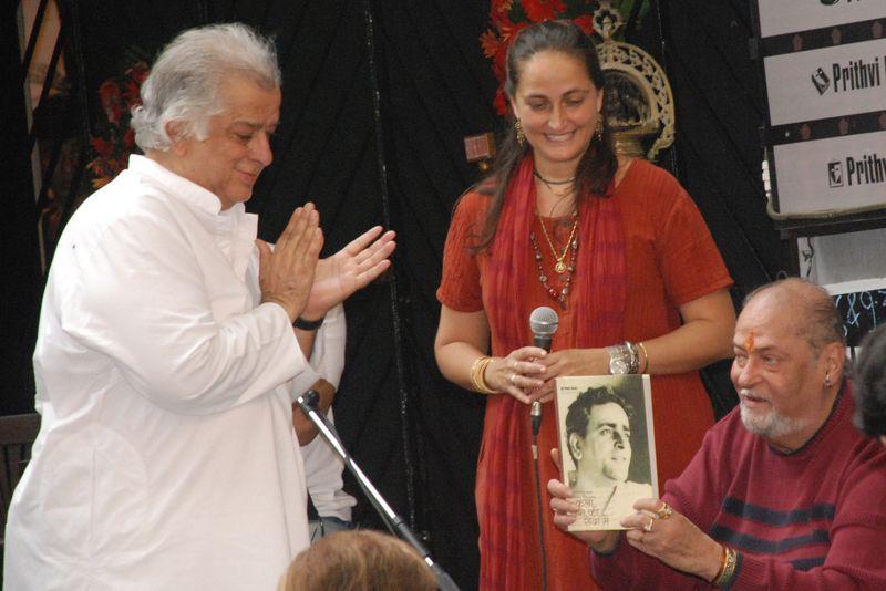Shashi, Sanjana and Shammi Kapoor