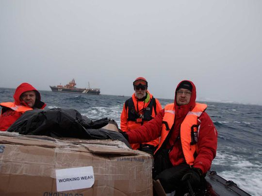 Antarctic mission Ukraine team
