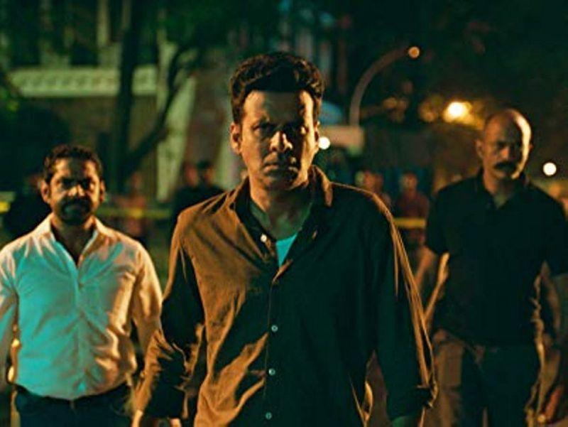 Manoj Bajpayee, Kishore Kumar G., and Sharib Hashmi in The Family Man (2019)-1588323593970