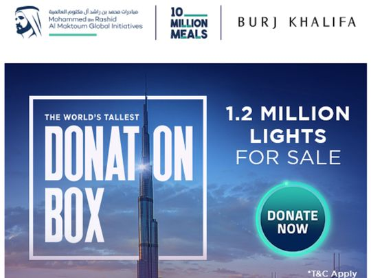 World's Tallest Donation Box