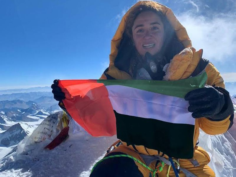 UAE flag in everest