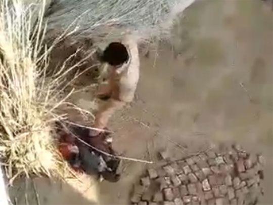Cops beat man in India