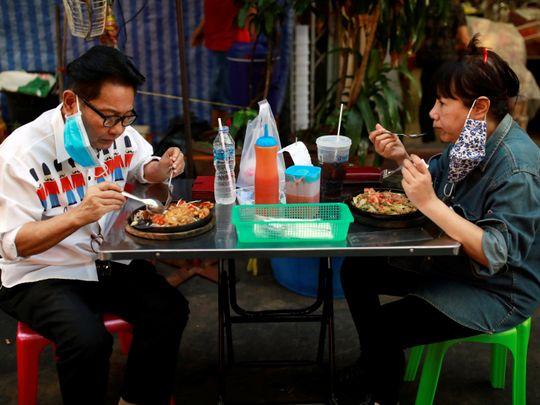 Bangkok's street food hub of Chinatown comes alive as lockdown eases