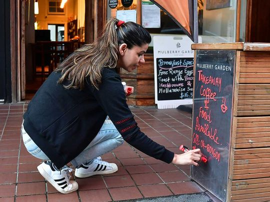New Zealand cafe lockdown