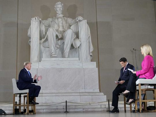 Trump Lincoln Memorial virtual town hall