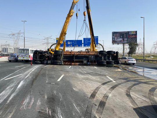 Water tank accident Dubai