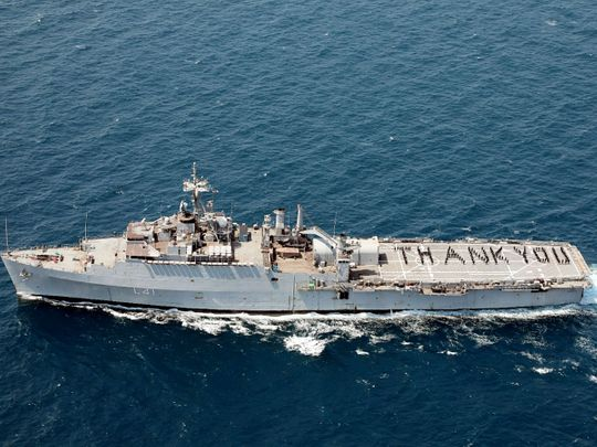 INS Jalashwa in the Bay of Bengal