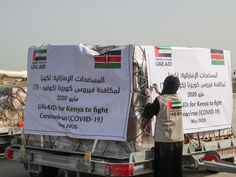 Aid sent from UAE to Kenya on Tuesday