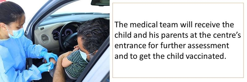 Children's vaccination is being offered through a drive-through service in the UAE