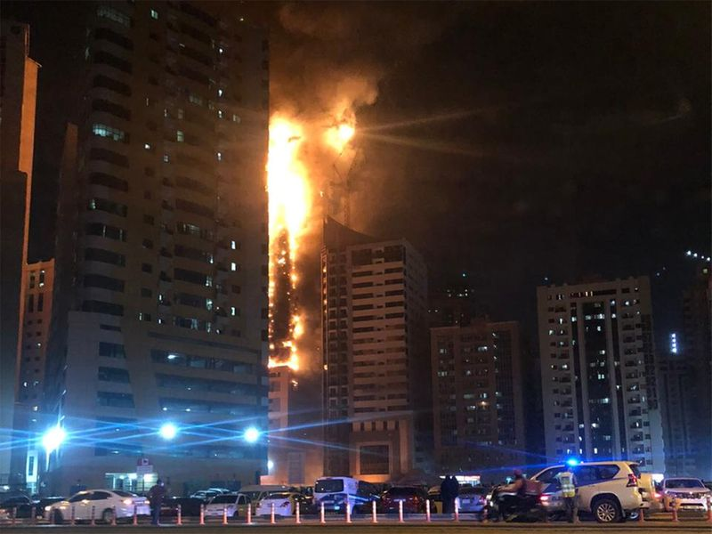 Fire in Sharjah residential tower