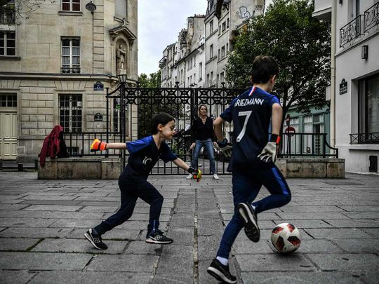 France Paris football lockdown