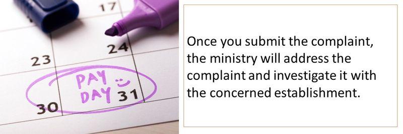 My Salary MOHRE late salary complaint