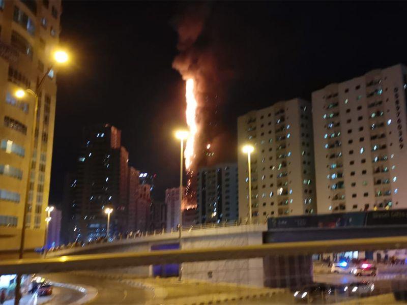 Sharjah tower fire
