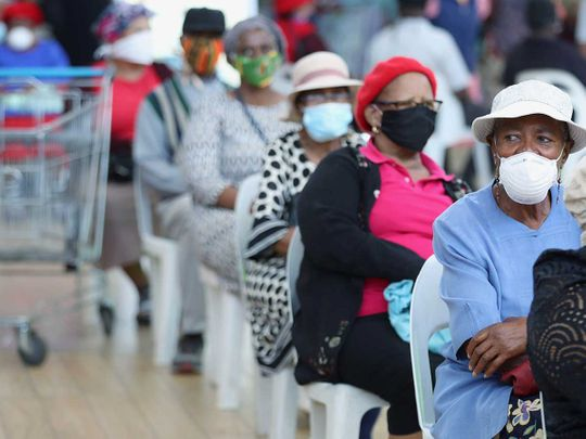 South Africa mall customers lockdown