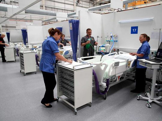 UK NHS Nightingale Hospital North East in Sunderland