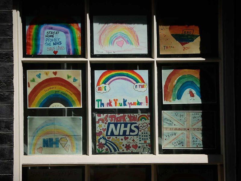 Coronavirus related art works from children thanking the NHS