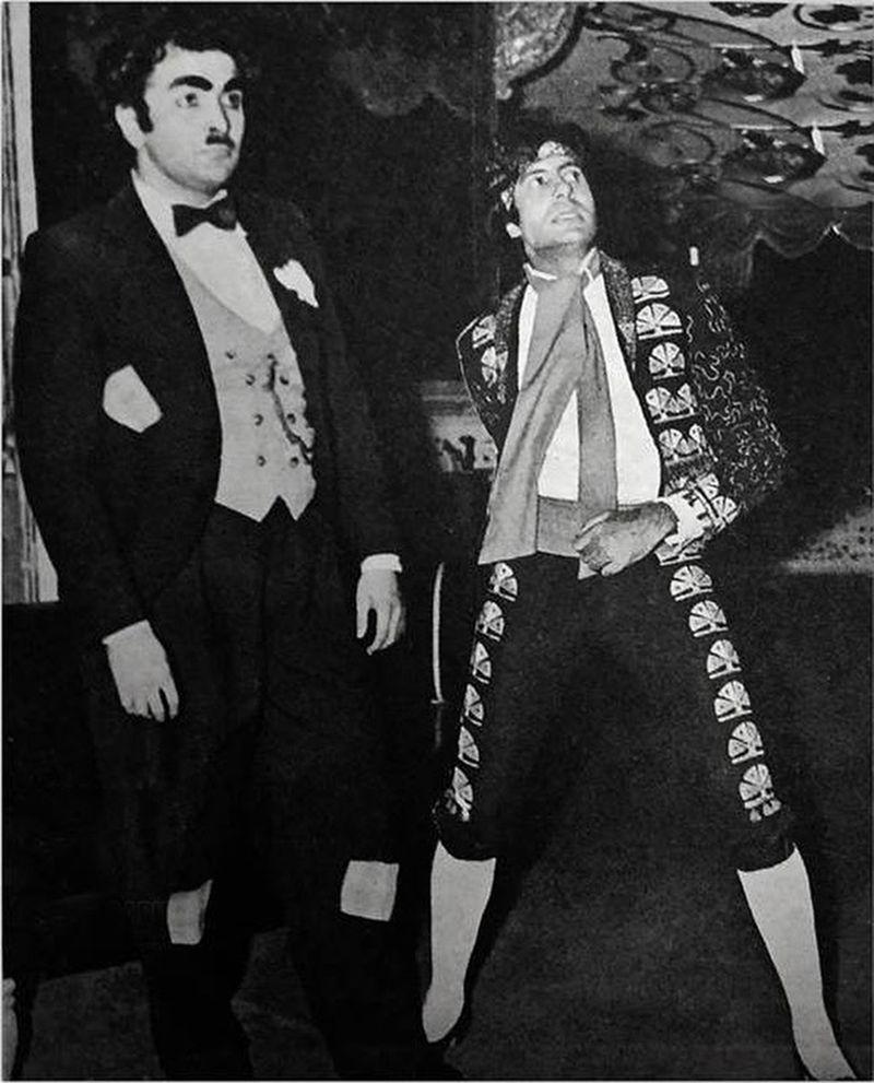 Randhir Kapoor and Amitabh Bachchan