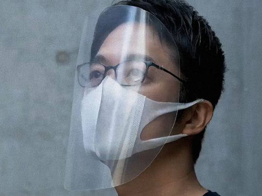 TAB 200506 Face Shield templates are being 3d printed via open source softwares-1588769271973