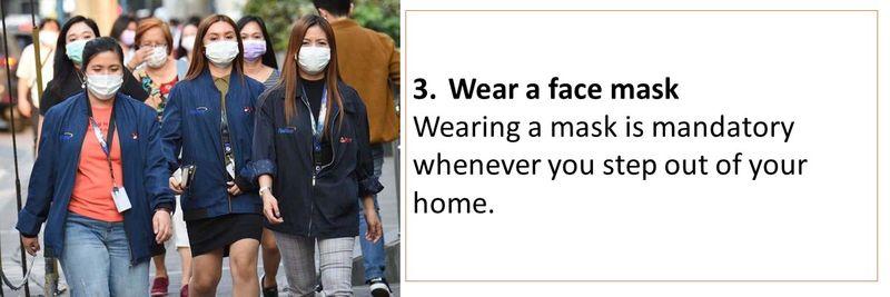 3. Wear a face mask