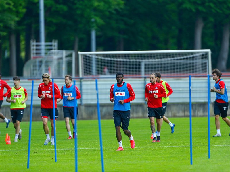 Back in Germany, it was looking good as Cologne took to the training field after weeks of inactivity.