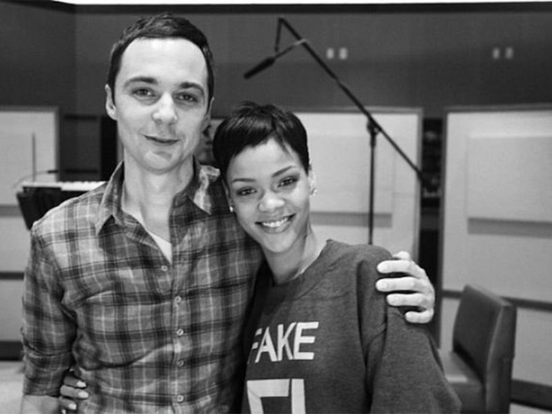 Jim Parsons and Rihanna