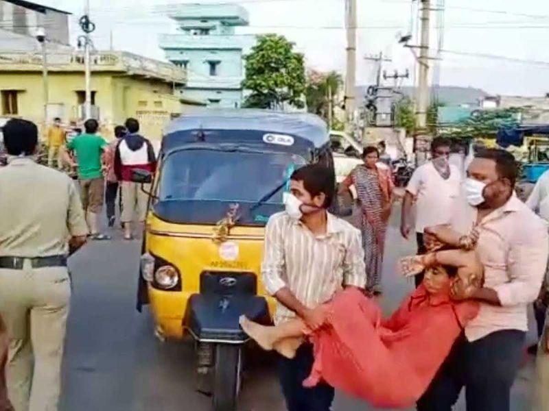 King George Hospital Andhra India gas leak visakhapatnam